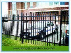 Residencial/Comercial/Jardim/Piscina cerca para segurança e plantas ornamentais, aço galvanizado, ferro forjado. Alumínio e painel de cerca de material metálico