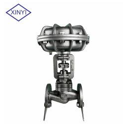Valvola di regolazione pneumatica automatica di pressione del fornitore cinese con l'azionatore ed il posizionatore per l'apparecchio di tintura