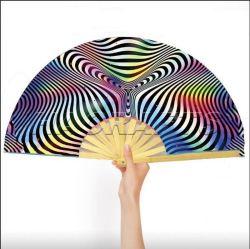 대자연의 큰 접는 나일론 천 휴대용 중국 쿵푸 타이 Chi Decoration Fan Custom Bamboo 대형 팬