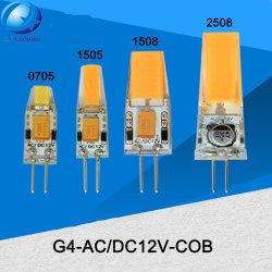 2W 3W 4W 5W G4 silikon PFEILER LED Wechselstrom-Gleichstrom-12V Innenminimais-Licht