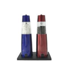 Elektrischer Schwerkraft-Salz-und Pfeffer-Schleifer-gesetzter Edelstahl-Salz-Pfeffer-Schleifer