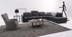 Estructura moderna de látex perezoso de la esquina de lujo Hotel Sofa Muebles de salón