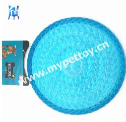 Cão de estimação prática Frisbee brinquedo de borracha macia resistente a mordidas arvorando Pires