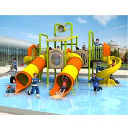 Les enfants de plein air en plastique amusant grand parc d'eau de diapositives pour la vente de jeux Kids
