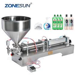 ZONESUN Zs-Gt1 désinfectant pour les mains à alcool entièrement pneumatique Gel propre distributeur de bouteille de savon liquide Machine de remplissage