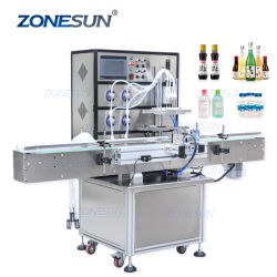 Zonesun magnetischer Pumpen-Milch-wesentliches Öl-Tafelwaßer-automatische Verpackungs-Flaschen-Wasser-flüssige Verpackungs-Füllmaschine