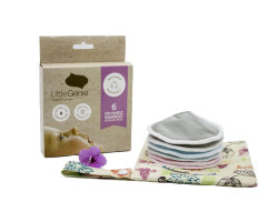 WomenのためのGots Certification Coned Contoured 3D Reusable Nursing Pads Bamboo Absorbent Washable Organic Breast Pads