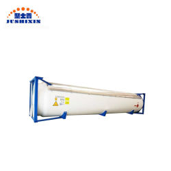 ISO/ASME Standard 20 Fuß 25cbm verflüssigter des Erdöl-Gas/LPG T50 Sammelbehälter-Behälter-mit Stützmultimodalem Transport