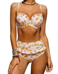 Mujeres Custom Printed Sexy Bañador 2PC conjunto de bikini para el baño Traje de baño