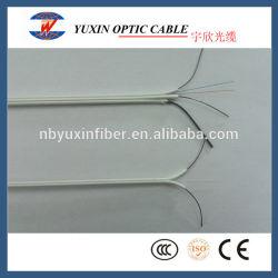 Blanco o negro de 2 núcleos FTTH Drop para interiores y exteriores de fibra óptica