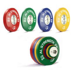 Il peso olimpico placca la strumentazione commerciale di forma fisica del piatto Bumper di gomma del Barbell