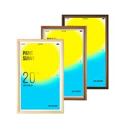 23,8 polegadas Madeira multimídia LED terminar de moldura fotográfica digital com controlo remoto 8 GB de memória flash