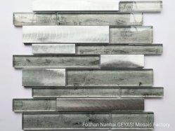 Aleación de aluminio gris Madera baldosas mosaico de vidrio de la Stick mosaico de vidrio para interiores La decoración del hogar Gys-1121 Azulejo de Mica/Keramikfliesen Cerâ