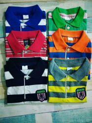 Mix Mix couleur Design Fashion les enfants à manches courtes T-shirts polo Stock (H20-13)