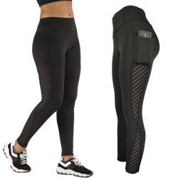 2020 Commerce de gros Custom maille serrée des jambières de Yoga sportif de conditionnement physique