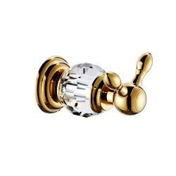 Couleur dorée du crochet de barre de Crystal serviette Accessoires de salle de bains set (18série)