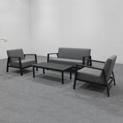 Praia de alumínio no exterior do assento de tecido grosso sofá moderno definido