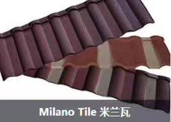 Milano/Shingle/Bond/Classic/Roman/Madeira Telha de metal de Pedra