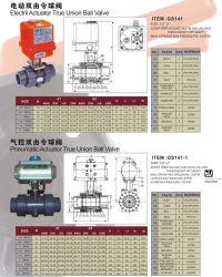 UPVC Actuatortrue Elétrico da Válvula de Esfera da União para o abastecimento de água