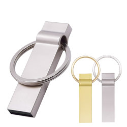 Lecteur Flash USB en métal 2.0 Pendrives avec la clé de la chaîne de 64 Go et 32 Go 16 Go de bâtonnets de plume 4GB Flash Memory Stick disque U (10pcs Logo gratuit)