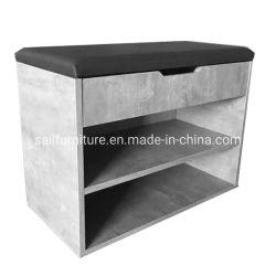 Цемент серый цвет башмак изменение стул используется для хранения обуви