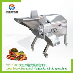 Automático de alta capacidade de máquina de picar frutas e legumes, fruta Cube Dicer, máquina de cortar em cubos