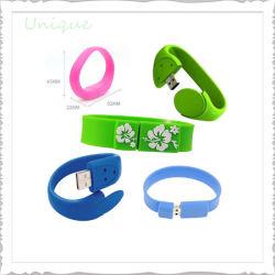De façon personnalisée en caoutchouc de silicone colorées gifle Sport Smart bracelet gravé imprimé Bracelet en silicone USB gravée pour cadeau de promotion GIF