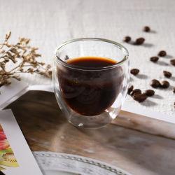 2.5Oz Боросиликатного двойные стенки стеклянной чашки эспрессо, размер, кружки кофе