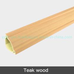 市場の熱い販売PVCケーブルダクトのチーク木カラー