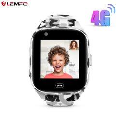 Lemfo Lec2のプロ新しい到着は1.4インチの子供のIP67を置くスマートな腕時計サポートSIMカードSos GPS WiFiスマートな電話子供Smartwatchを防水する