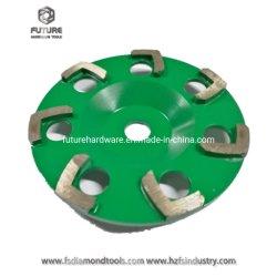 6 Zoll-einzelne Reihe abschleifende Hilti Diamant-Hilfsmittel, die Poliercup-Rad für konkreten Terrazzo reiben