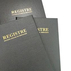 Tapa dura de estampado de oro de alta calidad Libro de registros
