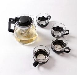 900ml Logotipo personalizado promocional Mayorista de café de cristal clásico juego de té con Cups para regalo