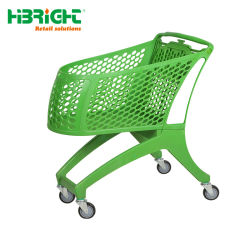 Nouveau style de Métal en plastique de supermarché à roues en plastique sur le marché sac chariot Panier chariot pour la vente au détail