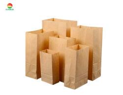 Естественный цвет пользовательского размера из переработанных бумажных мешков для пыли коричневого цвета упаковки продуктов питания обед ЭБУ подушек безопасности/вынос сумки