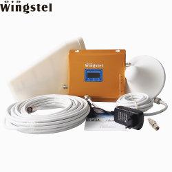 El Tri band GSM Amplificador de señal celular 2G 3G LTE 4G a 900MHz 1800 MHz 2100 MHz repetidor de señal móvil pequeño amplificador de señal amplificador / con la antena