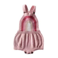 Neugeborene Baby Onesie Kind-Kleidung-Häkelarbeitknit-Strickjacke-Kinder, die Baby-Spielanzug kleiden
