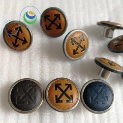 La moda de cuero de PU de 18 mm de aleación de metal pintura camisa/Jeans ropa/Botón (Yf12-19)