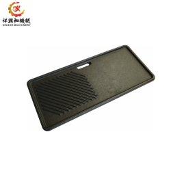 Plancha de acero inoxidable moldeado en arena personalizadas Placa para la barbacoa cocina
