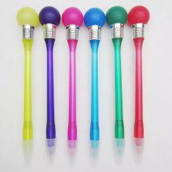 Promoción Lámpara de plástico Bolígrafo con logotipo personalizado