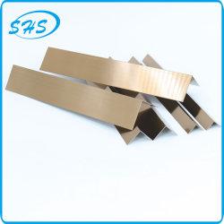 ステンレススチール V プロファイル角度( Ti-Golden Color 800 G ミラー付) ウォールコーナー保護仕上げ