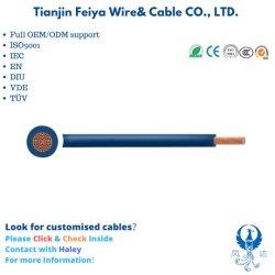 Isolamento flessibile isolato giallo rosso del PVC del Cu del collegare Tri-Rated delle BS H05V2-K H07V2-K del cavo elettrico del cavo di verde blu di tensione