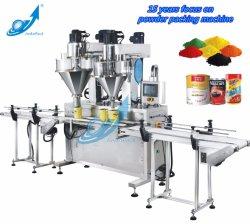 Doppelte automatische Stangenbohrer-Hauptflasche/kann Füllmaschine/Maschinerie für das Currypulver-/Pfeffer-/Gewürz-Packen/Pakaging mit der Dattel-Kodierung und Kennzeichnung