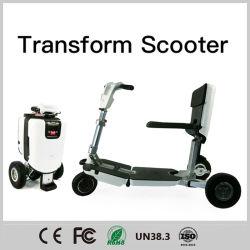 De Batterij 3wheels die van LG de Autoped van de Mobiliteit voor Gemakkelijke Rit met het Oudere Gebruiken van Ce vouwen
