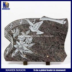 선 동굴(Line Engraving) 꽃은 기념관(Memorial)을 위한 명판