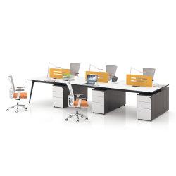 Personne modulaire moderne de 2 sièges Meubles de bureau de poste de travail de partition