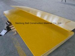 La fibre de verre solide de la plaque lisse, FRP/GRP Gritted feuille, plaque de grain du bois.
