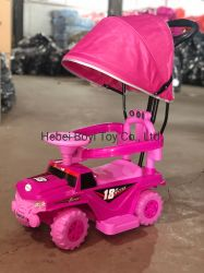 Kind-Fahrt auf Auto-Kind-Spielzeug-Auto mit Stoss-Stab und Kabinendach-Baby-Auto mit Musik und Licht