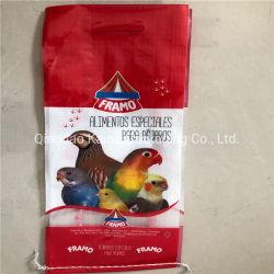Diseño de la bolsa de tejido de polipropileno de semillas para las aves las bolsas de embalaje de alimentación de 5kg Bolsa con asa