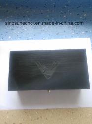 Schwarze Farben-hölzerner Geschenk-Kasten mit preiswertem Preis für das Teebeutel-Verpacken